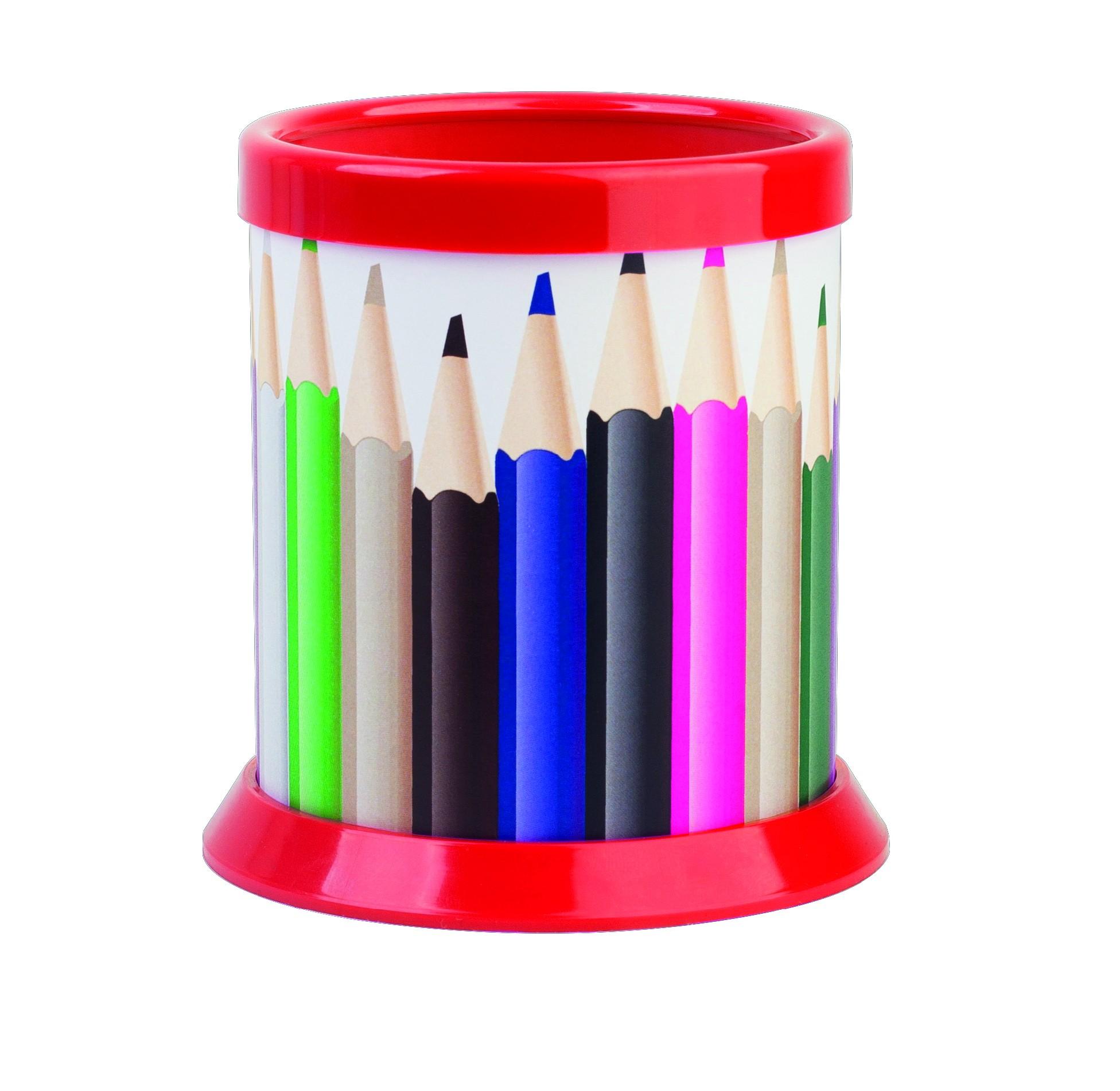 Stojánek na tužky ICO Ring, červený