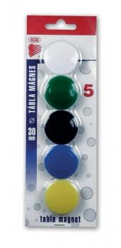 Magnet barevný ICO 30mm, 5 ks blistr