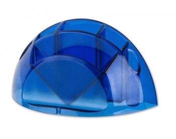 Stojánek na tužky a bločky ICO,transparentní modrá