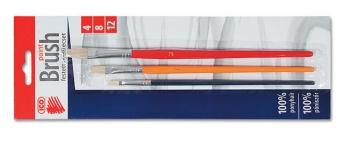 Sada štětců ICO 4, 8, 12 - barevný, plochý
