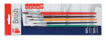 Sada štětců ICO 2, 4, 6, 8, 10 - barevný, kulatý