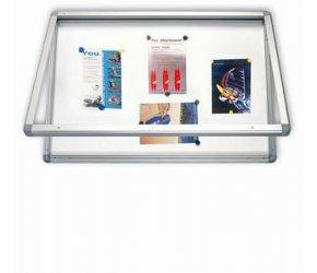 2x3 Venkovní vitrína s horizontálním otevíráním, lakovaná magnet. 75x70cm