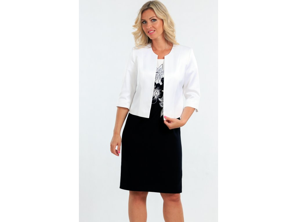 1c3b7debc151 Dámské pouzdrové šaty s bílým sakem - Noel boutique