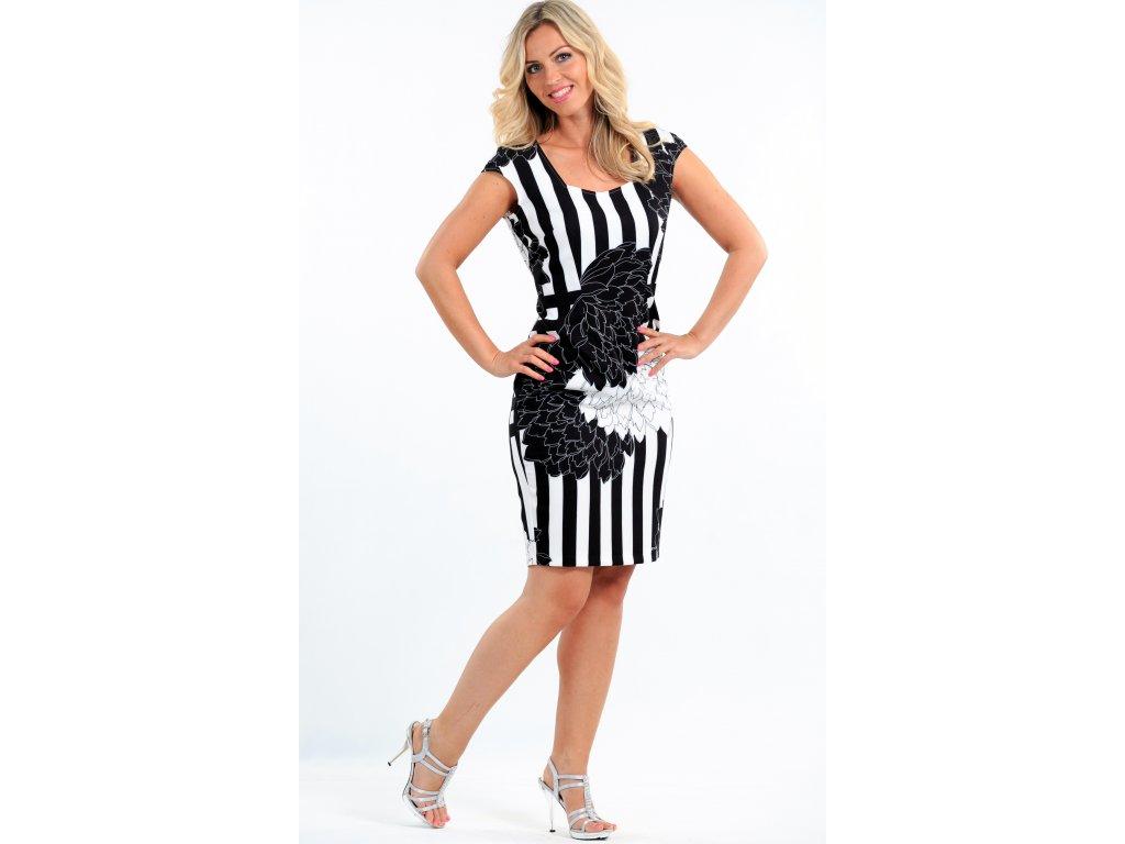 Dámské černobílé letní šaty Dámské černobílé letní šaty ... 1a1e880405b