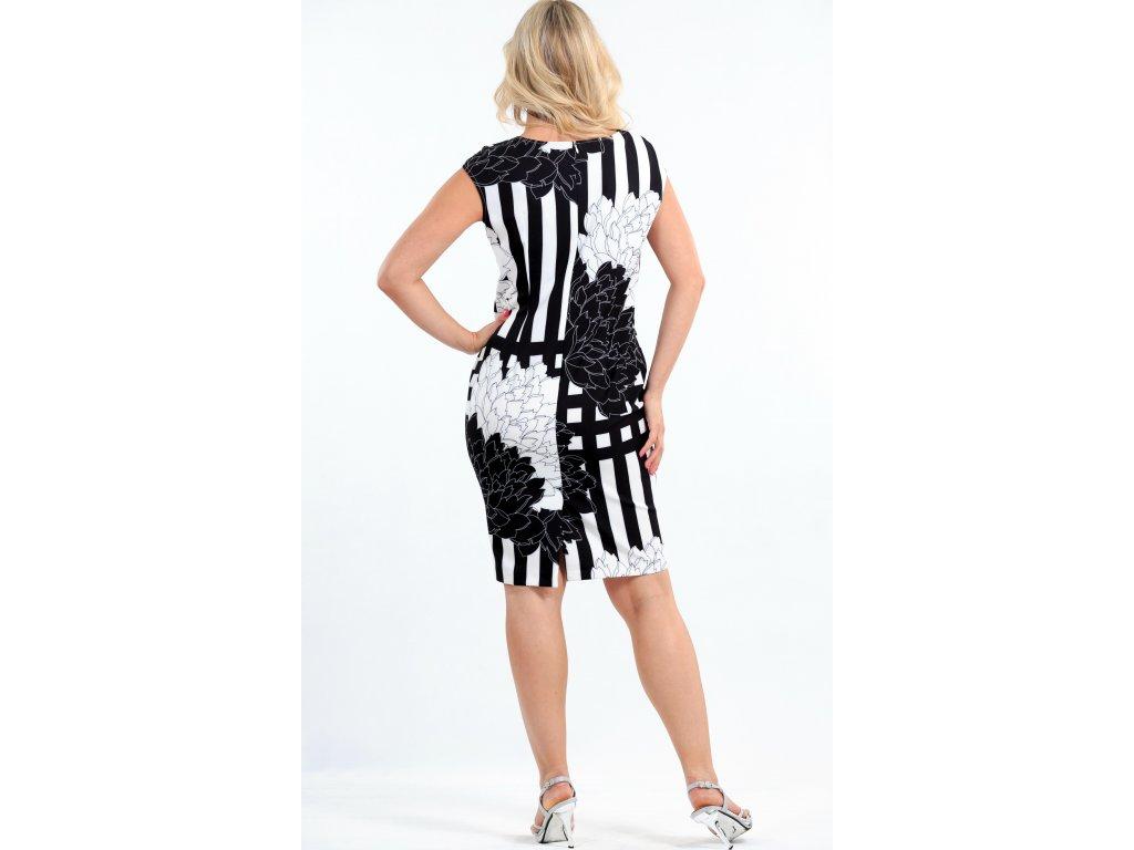 Dámské černobílé letní šaty - Noel boutique 66df04daf03