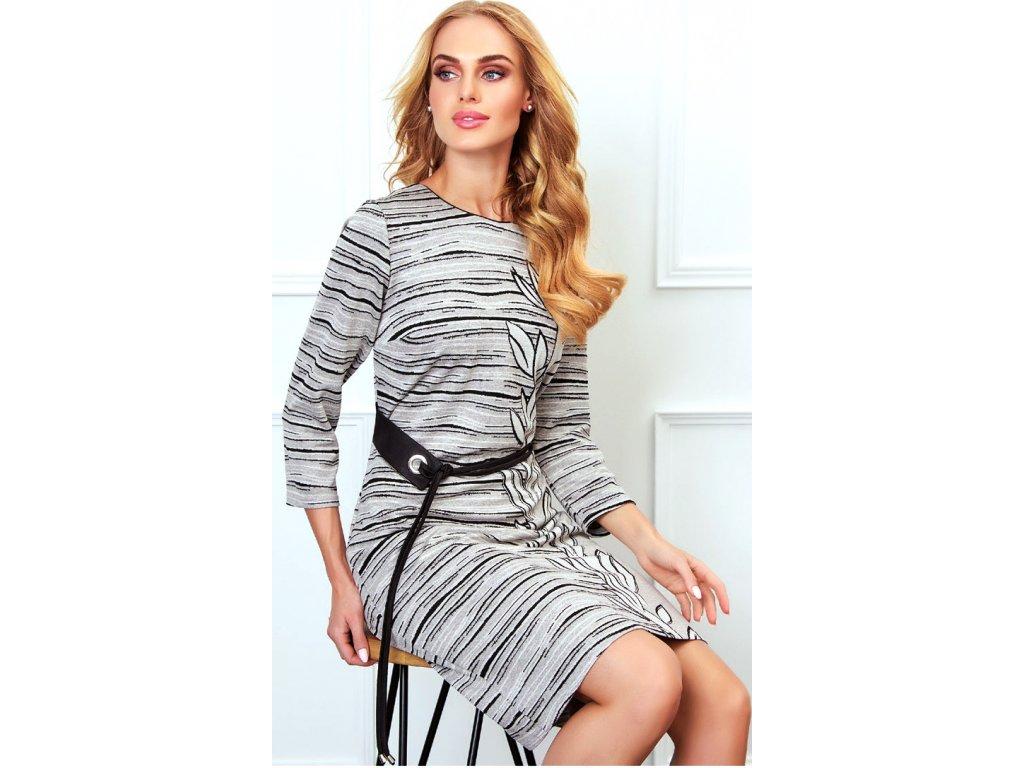 be4729992654 Dámské úpletové šaty s 3 4 rukávem - Noel boutique