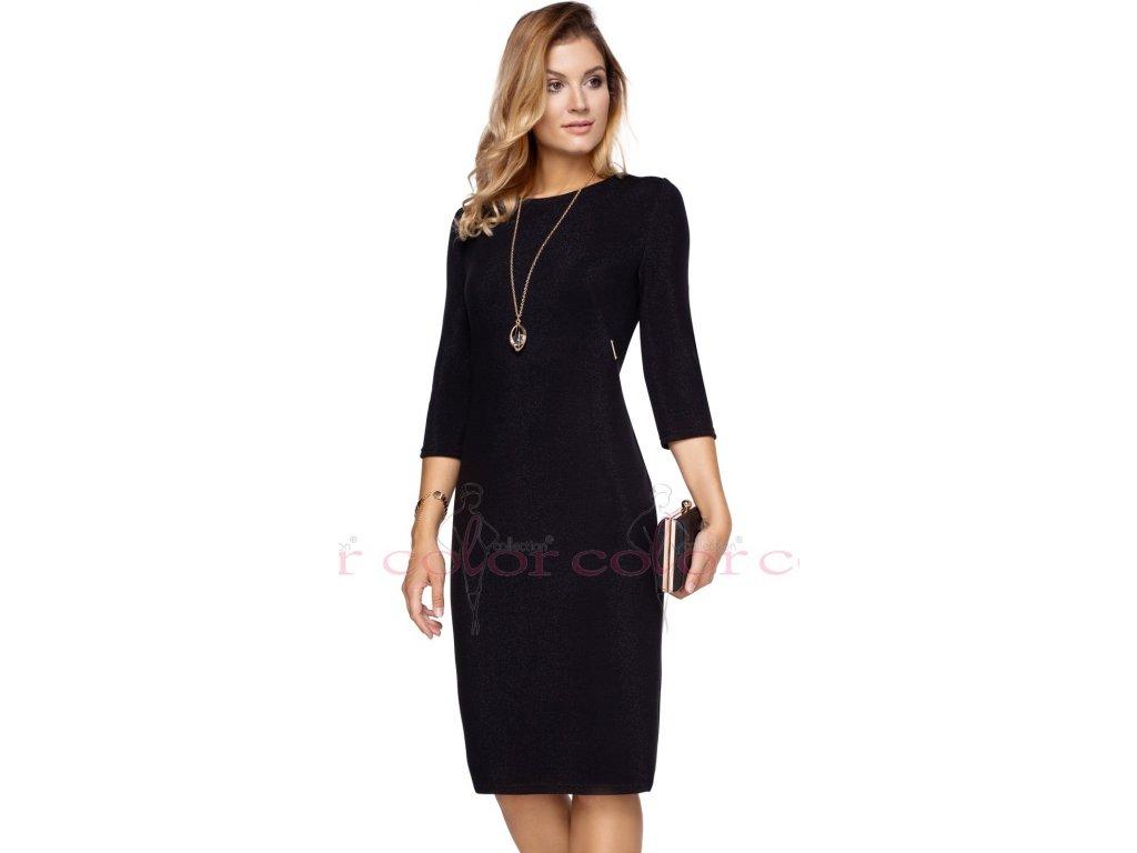 d454c3c7413 Černé dámské šaty s rukávem - Noel boutique
