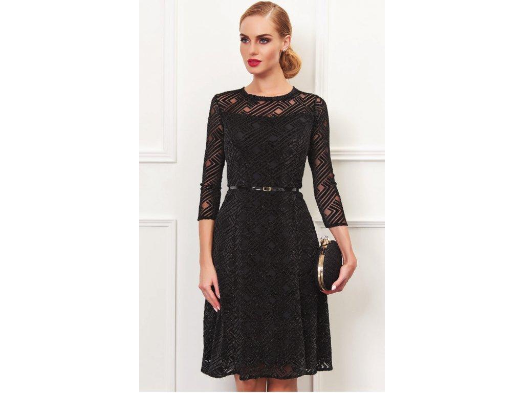 Černé krajkové šaty do společnosti - Noel boutique d04d20cd5e2