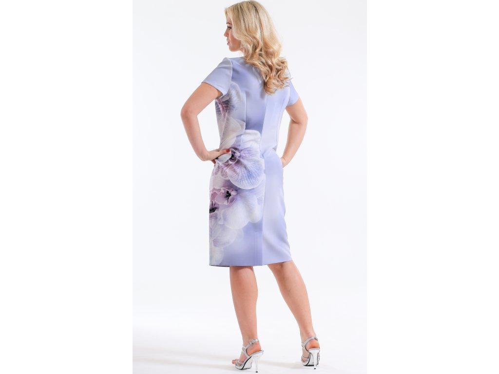 c368cdf9848 Dámské světle šedé pouzdrové šaty s bolerkem - Noel boutique