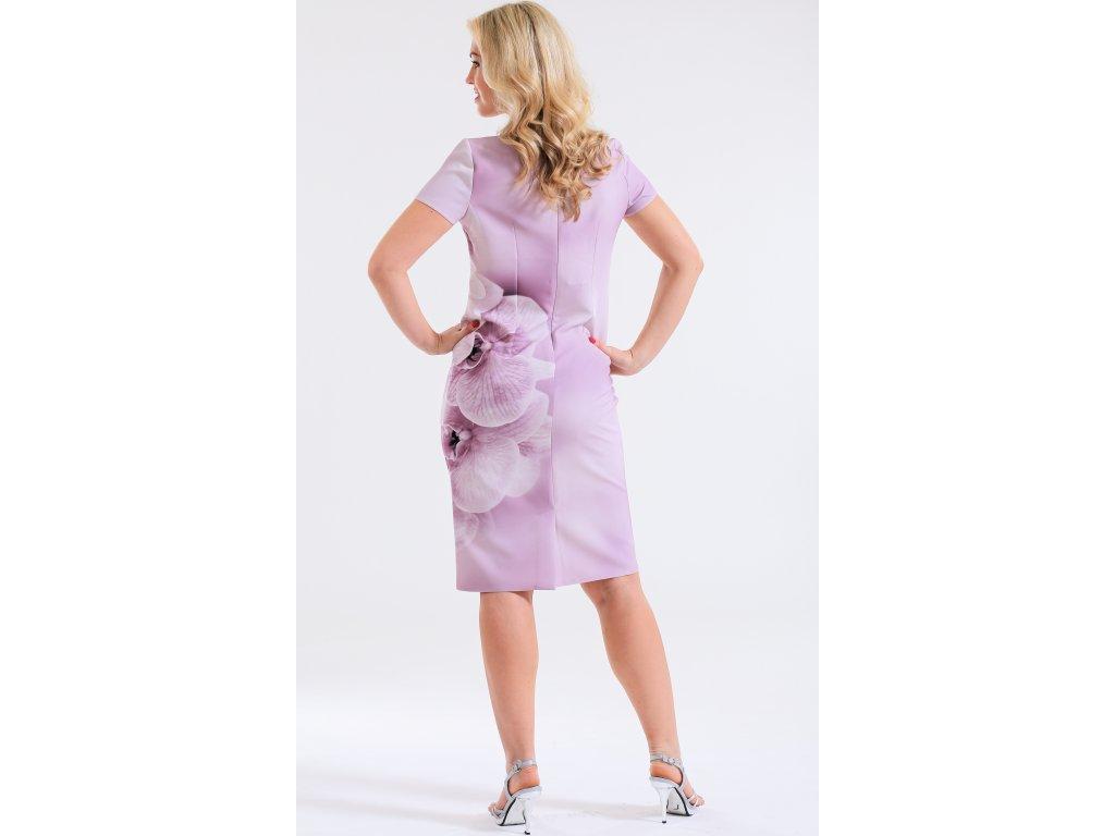 Dámský komplet růžové šaty s bolerkem - Noel boutique a0e8b38b17
