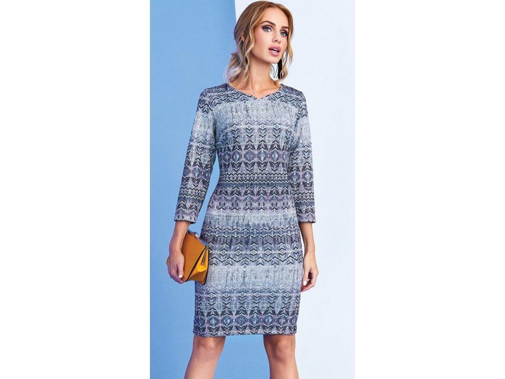 f7bce270634d Světle fialkové šaty se vzorem a s lurexovou nitkou. Velikost 42 - 50
