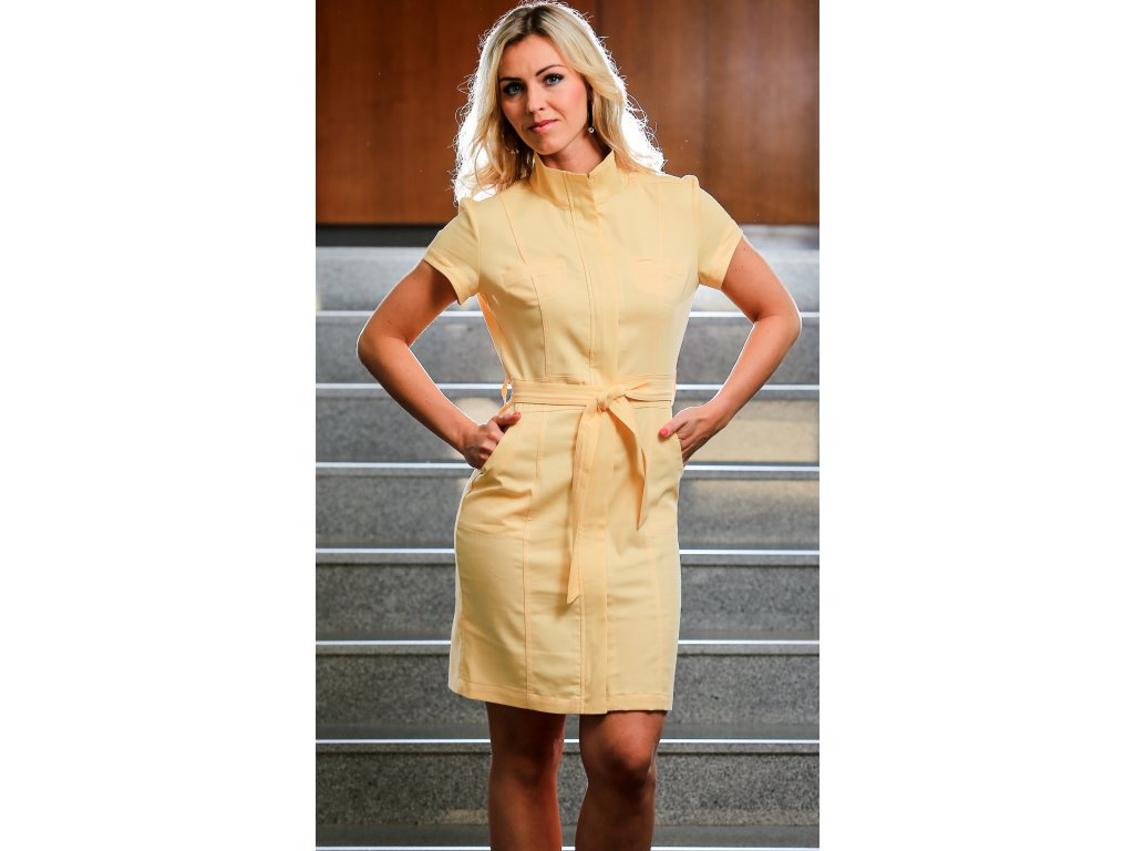 Letní bavlněné šaty žluté - Noel boutique dca087e6b9