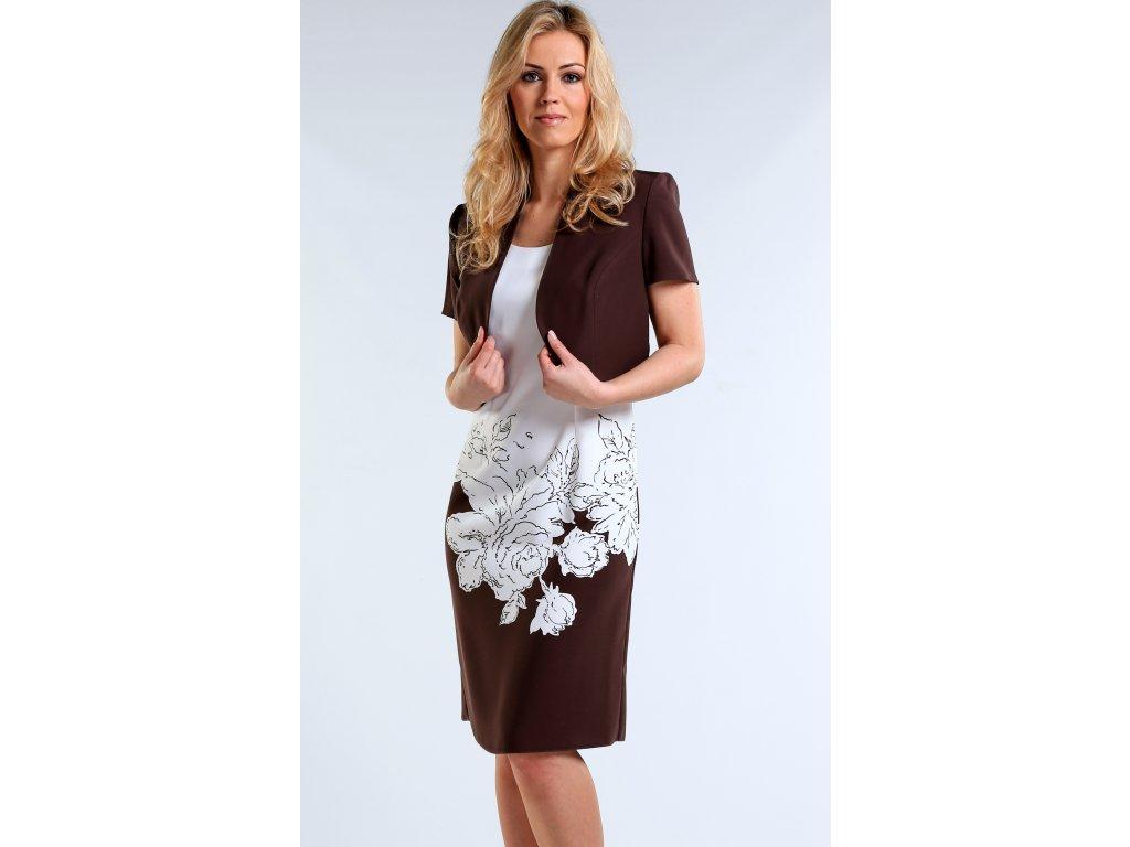 33589728ffb Bílé společenské šaty s bolerkem - Noel boutique