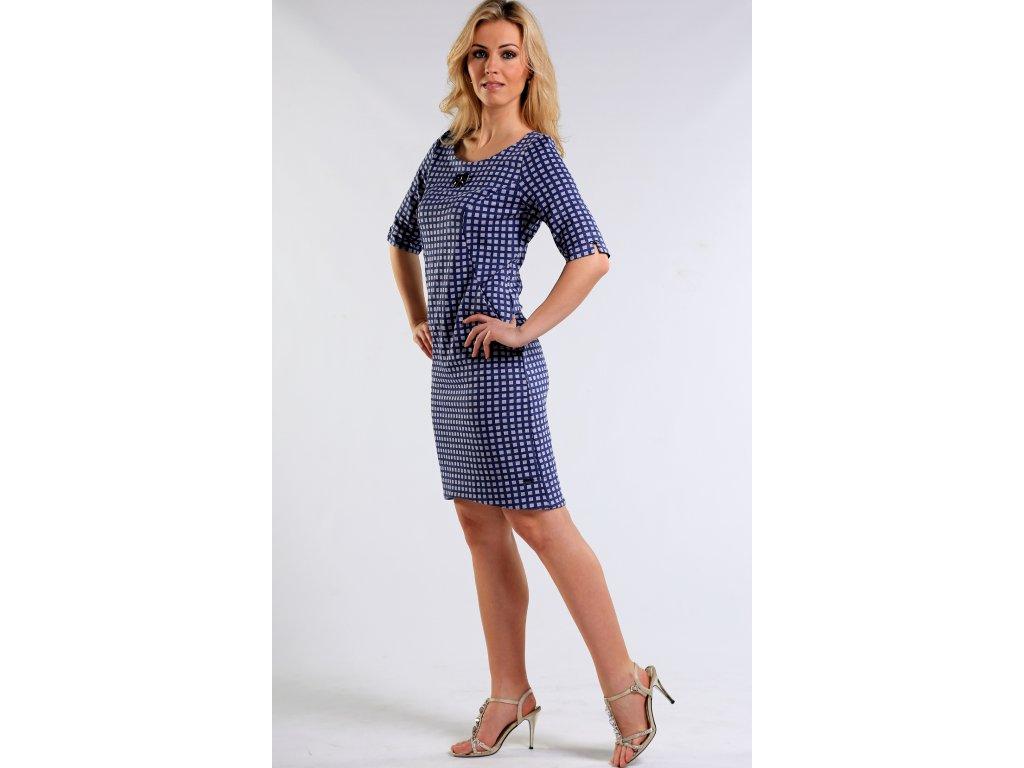d90aa414118 Modré úpletové šaty - Noel boutique