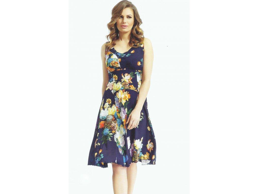 Letní modré šifónové šaty - Noel boutique 5cf386b1ef