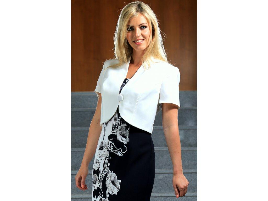 Zeštíhlující dámské šaty s bolerkem - Noel boutique 91e5adf6b1