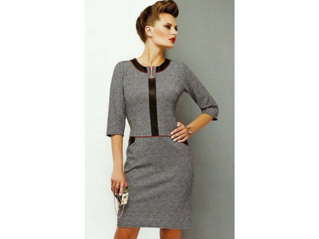 Dámské úpletové šaty s lemováním - Noel boutique d7cf41a1b36