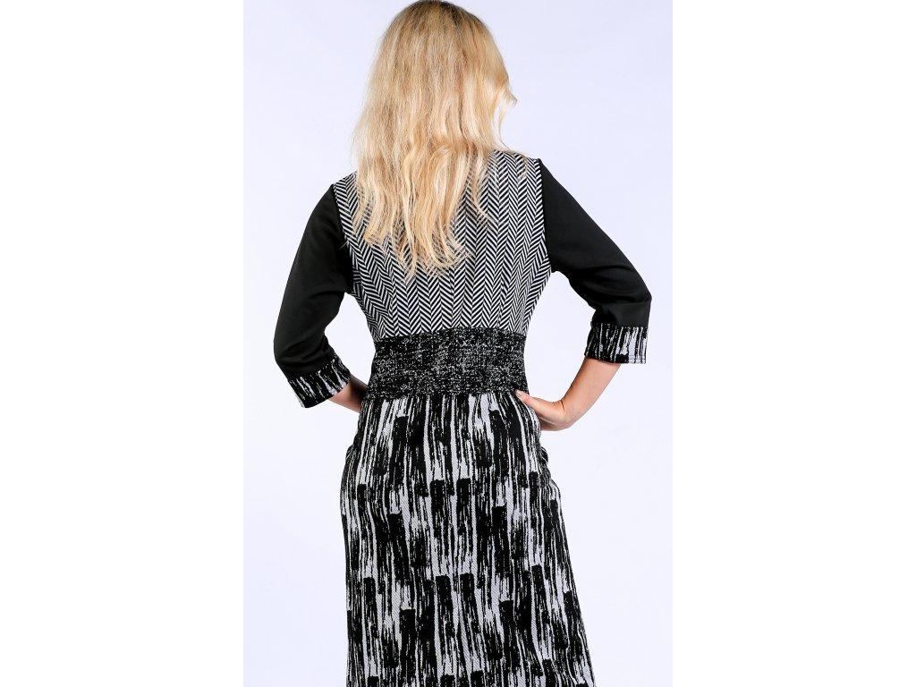 Černobílé dámské pouzdrové šaty Černobílé dámské pouzdrové šaty ... 4925d4c1cc0
