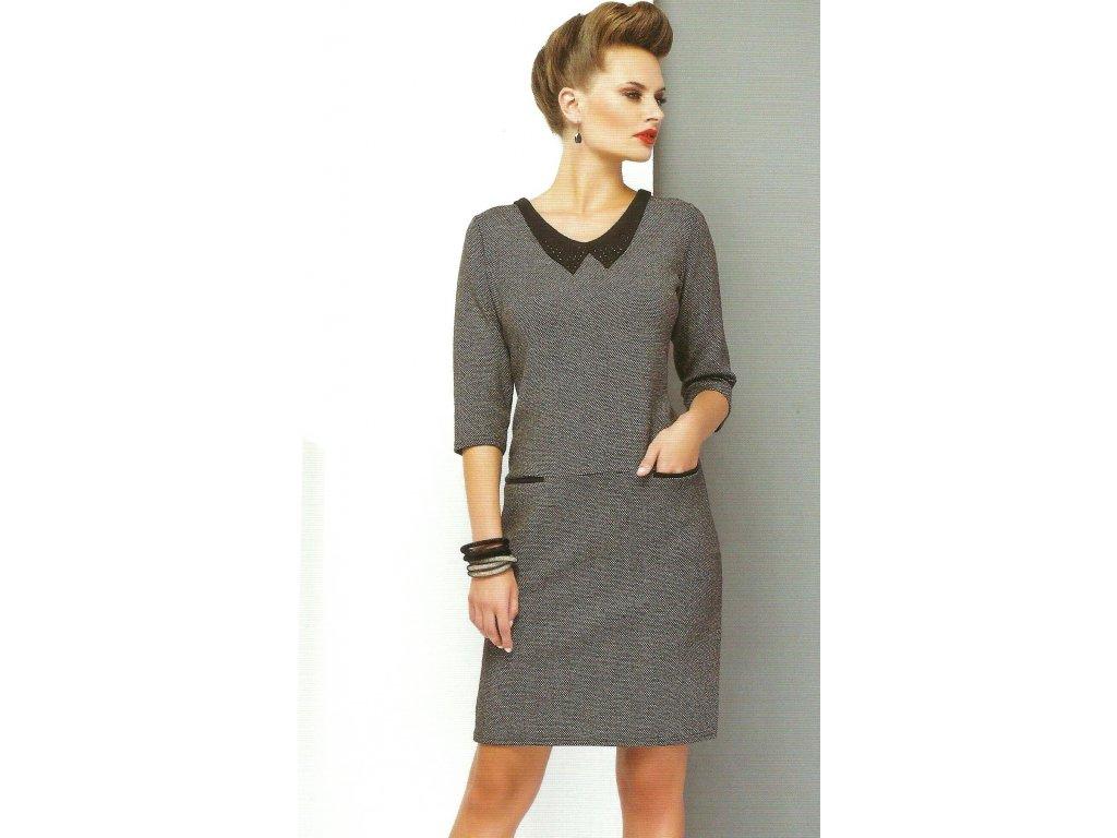 Dámské šaty s límečkem - Noel boutique c404a78feed