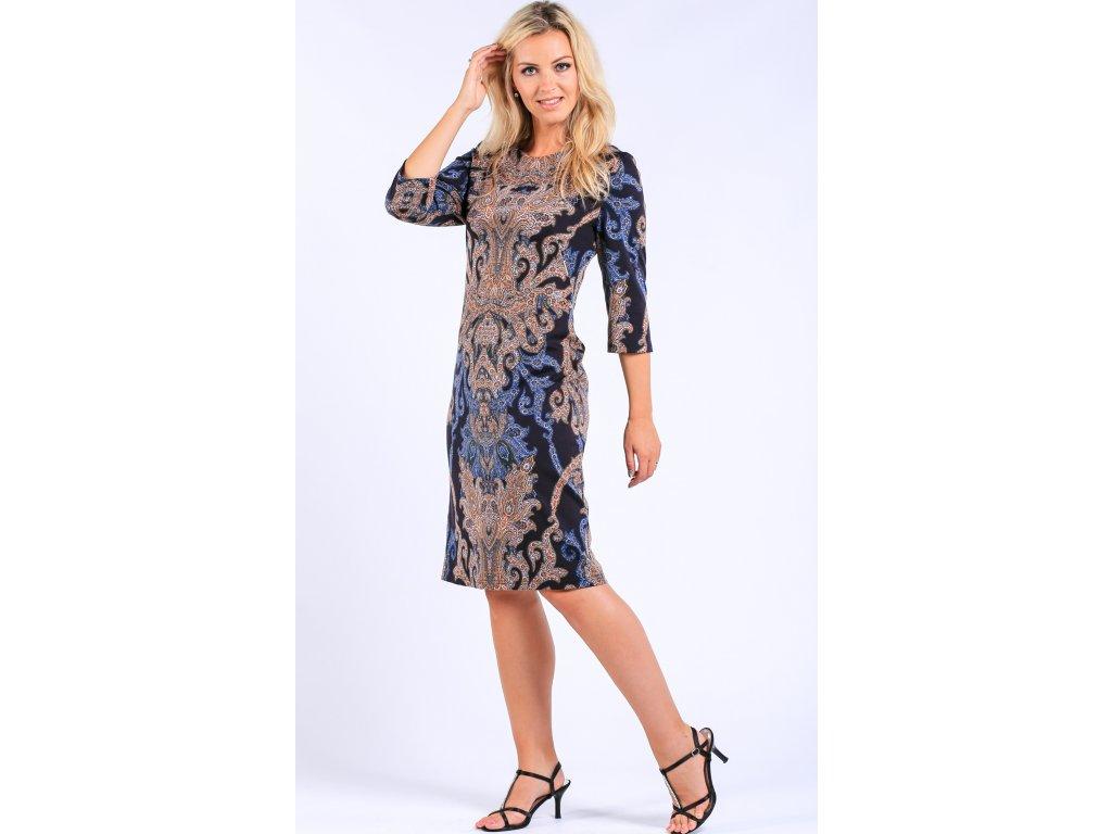 4689658307b Dámské úpletové šaty s rukávem Dámské úpletové šaty s rukávem ...