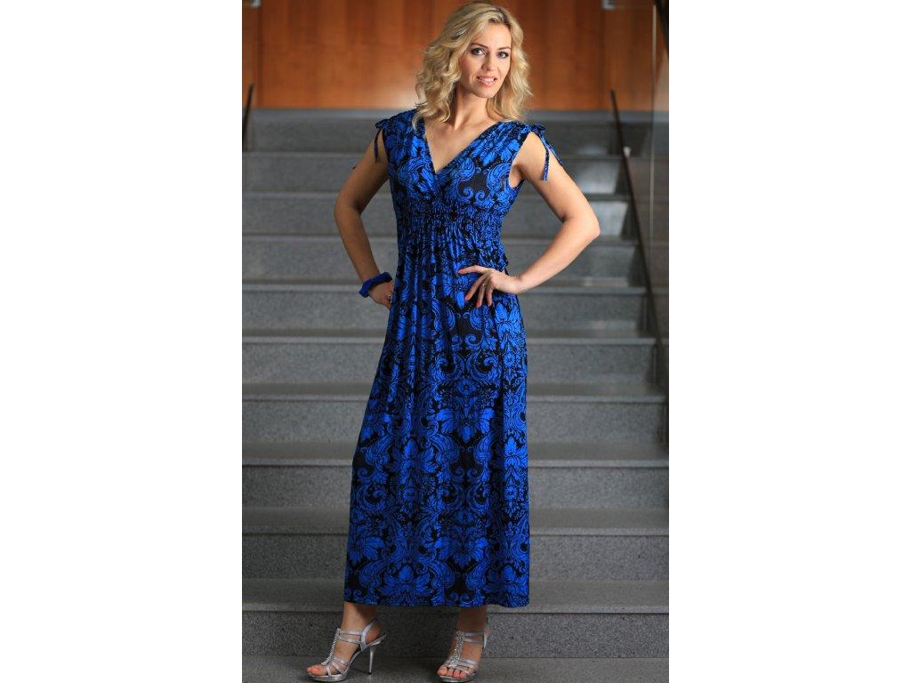 Dámské letní dlouhé šaty modré - Noel boutique 912e8f7b37