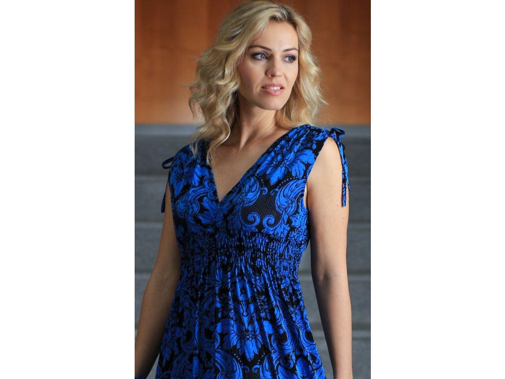44b27c34935e Dámské letní dlouhé šaty modré - Noel boutique