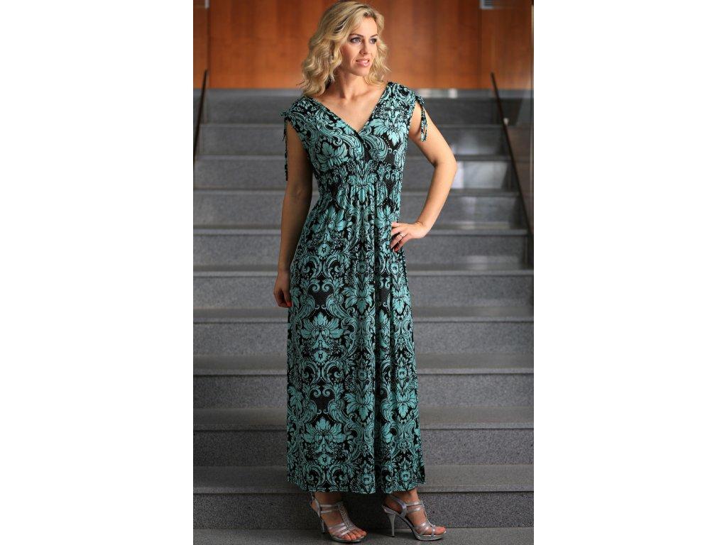 Dámské dlouhé letní šaty zelené - Noel boutique 9f1910bbc1