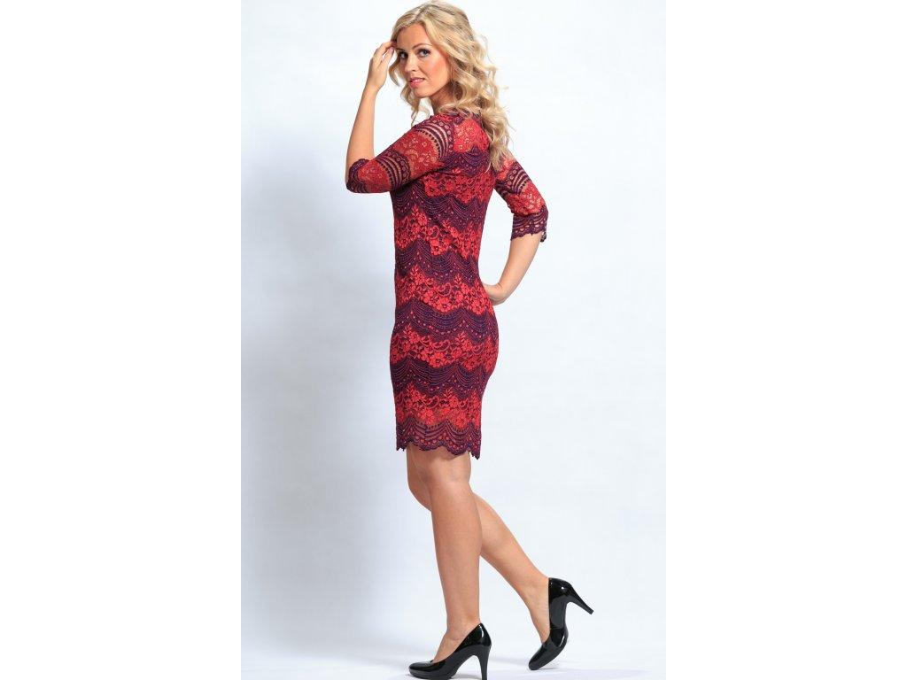 Dámské krajkové šaty červené - Noel boutique c21be84d2e