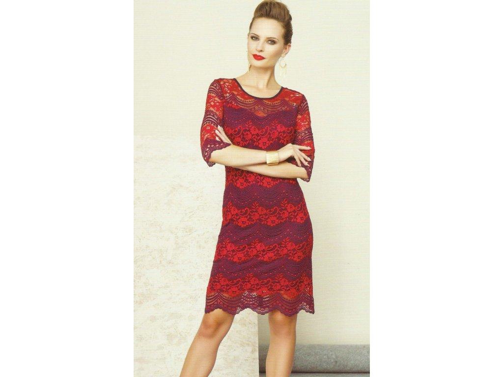 c93e47db24fe Dámské krajkové šaty červené - Noel boutique