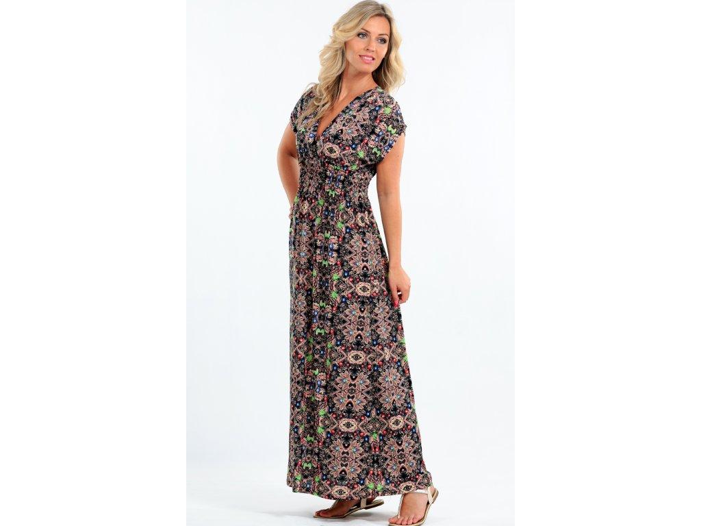 Dlouhé letní šaty pro plnoštíhlé - Noel boutique 661519f5ad