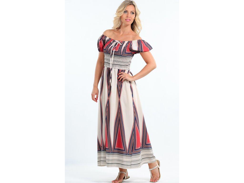 a61d224809a1 Dlouhé letní bavlněné šaty - Noel boutique