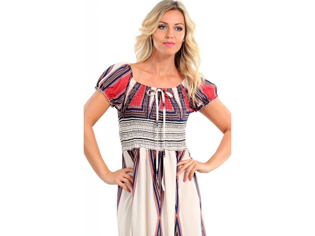 Dlouhé letní bavlněné šaty Dlouhé letní bavlněné šaty ... 0cbcfd2e25