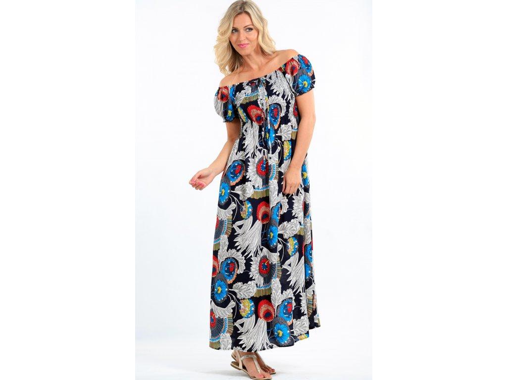 Dlouhé dámské letní šaty barevné - Noel boutique a9326e264d