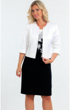 Dámské pouzdrové šaty s bílým sakem