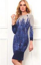 Úpletové dámské šaty modré