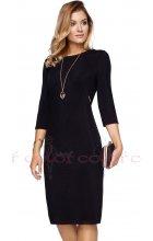 Černé dámské šaty s rukávem