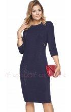 Dámské tmavě modré šaty i pro plnoštíhlé