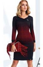 Zeštíhlující dámské úpletové šaty s rukávem