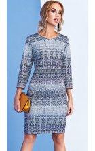 Dámské fialkové pouzdrové šaty s výstřihem V