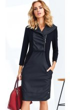 Černé dámské šaty se zipem