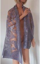 Přehoz ke společenským šatům fialkový