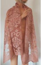 Přehoz ke společenským šatům růžový