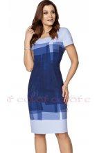 Dámské zeštíhlující modré letní šaty
