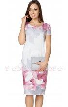 Pouzdrové letní šaty s květinovým vzorem