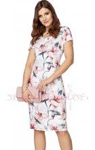 Letní dámské bílé květované šaty
