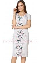 Béžové letní šaty i pro plnoštíhlé