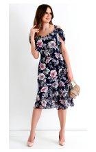 Letní ramínkové šaty s volánovou sukní