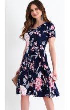 Letní zeštíhlující šaty s krátkým rukávem