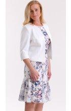 Bílé letní společenské šaty s bolerkem