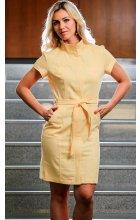 Letní bavlněné šaty žluté